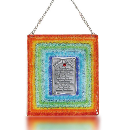 Fire Glass Studio Rainbow Fused-Glass Home Blessing 1008