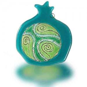 Fire Glass Studio Inside The World Fused Glass Pomegranate Hamsa 8215