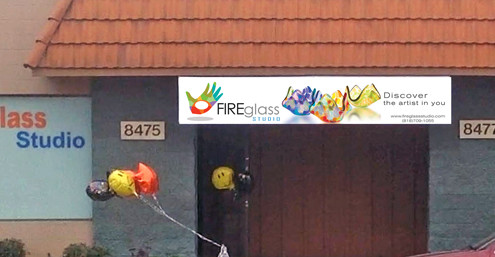 Fire Glass Studio Open House 2014 Banner