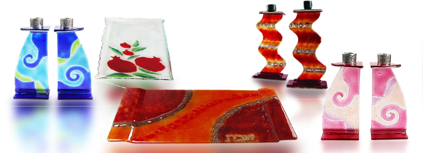 Fire Glass Studio Shabbat Judaica
