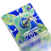 Dreidel Glass Fusion Square with Blue Wave by Fire Glass Studio