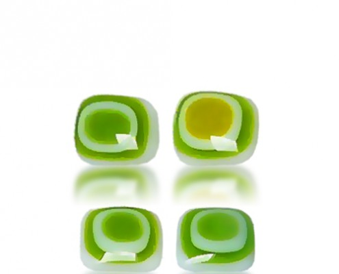 Green Magnets by Fire Glass Studio
