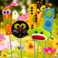 Cartoon Garden Stakes Glass Fusion by Fire Glass Studio