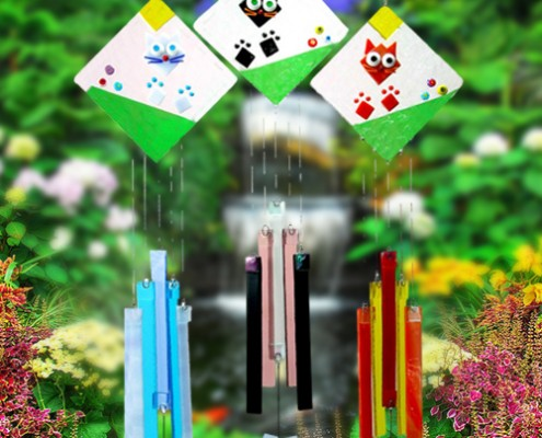 Glass Fusion Windchime by Fire Glass Studio