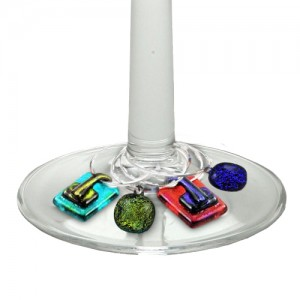 Wine Charms Glass Fusion by Fire Glass Studio