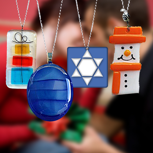 Fire Glass Studio Glass Fusion Holiday Pendants