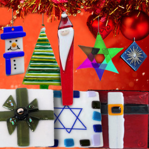 """Fire Glass Studio –Glass Ffusion """"Touch of Holiday Glass"""" Banner"""